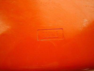 Vintage Wall Telephone Rotary Dial Rich Orange Colour (Itt Branded) Wall Mounted