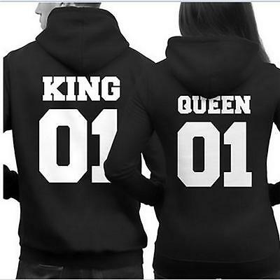 King 01 And Queen 01 Couple Hoodie Matching Hoodies Pullover Jumper Sweatshirt I