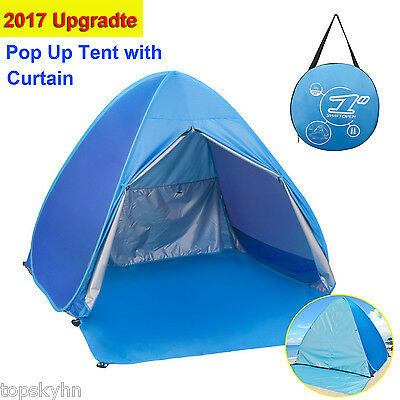 Pop Up Tent Beach Umbrella Automatic Portable Cabin Camping Tent Sun Shelter UV