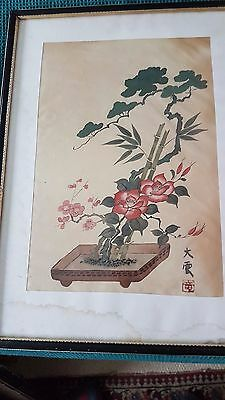 Antique Chinese school 19th century signed  watercolour