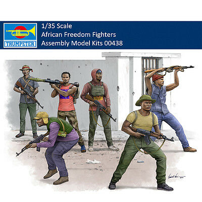 Trumpeter 00438 1/35 African Freedom Fighters Figure Plastic Assembly Model Kits