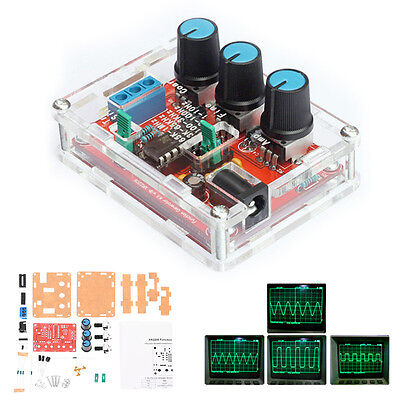 XR2206 Function Signal Generator DIY Kit Sine Square Output 1HZ-1MHZ with CASE
