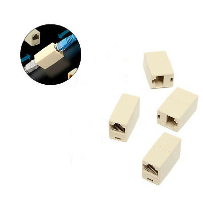 4PCS RJ45 to Rj45 Ethernet Network Cable Lead Joiner Adapter Coupling Connecter