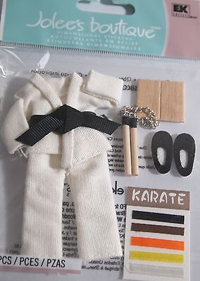 JOLEE'S BOUTIQUE KARATE Self Defence Scrapbook Craft Sticker Embellishment