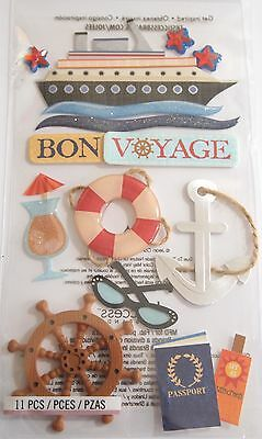 JOLEE'S BOUTIQUE LE GRANDE BON VOYAGE Sail Scrapbook Craft Stickers Dimensional