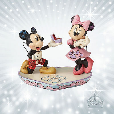 A Magical Moment Mickey & Minnie Mouse Maus Jim Shore Disney Herz Ring  4055436