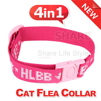 Adjustable 4in1 Cat Dog Pet Flea Egg Tick Collar Protection Kill Mosquitoe Pink