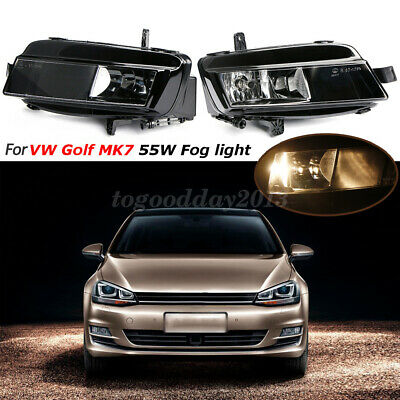 2x Front Right&Left Bumper Fog Light Halogen Lamp for VW Golf MK7 2012-2016 New