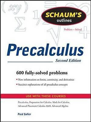 Schaum's Outline of Precalculus by Fred Safier (Paperback, 2008)