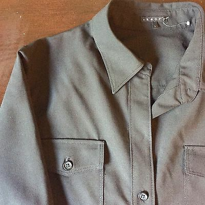 Women's Theory Black Button Up Shirt Size Large