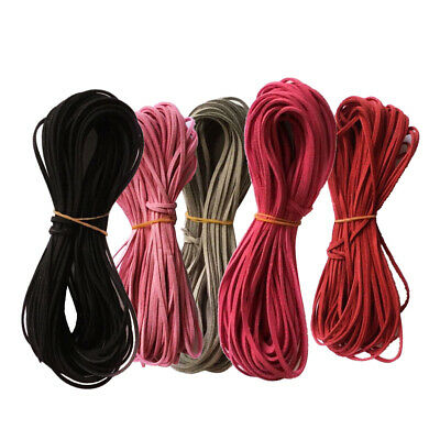 4 Meters 2.6mm Velvet Flat Faux Leather Suede Cords Threads DIY Woven Ropes