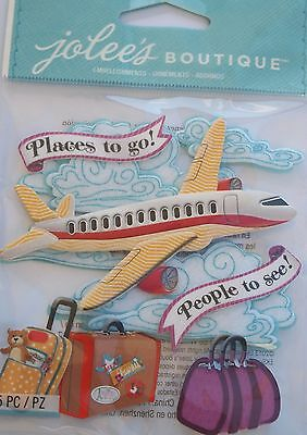 JOLEE'S BOUTIQUE AIRPLANE Plane Travel Scrapbook Craft Sticker Embellishment