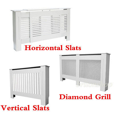 Panana White Painted MDF Radiator Cover Wall Cabinet Shelf Radiator Cabinet