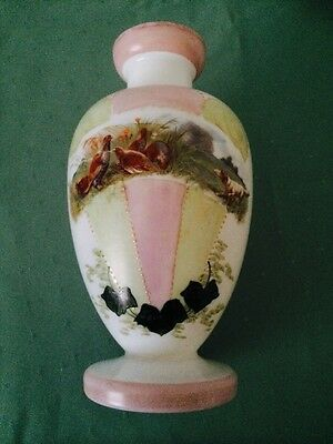 Victorian White Glass Vase