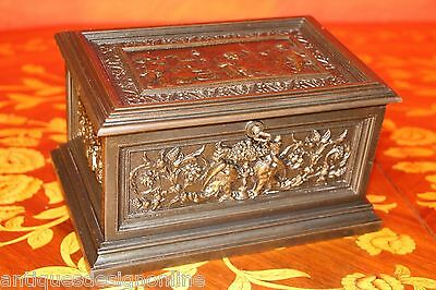 Rare original antique Empire JEWELLERY BOX TREASURE CHEST CASKET Schinkel 1835