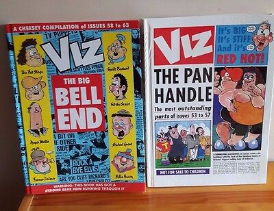 VIZ COMIC BOOK ANNUALS x 2 THE PAN HANDLE & THE BIG BELL END