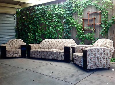 VINTAGE 1930's Art Deco CLUB LOUNGE & ARMCHAIRS Tapestry Fabric PICKUP 5085