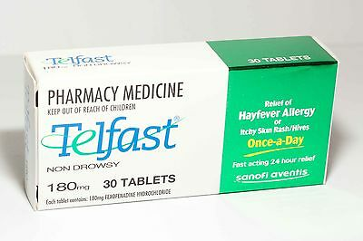 Telfast (Fexofenadine) 180mg Tablets 30s Antihistamine *BEST PRICE ANYWHERE!!*