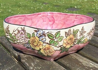 "Old Maling Lustre Pottery Dish / Bowl ""rosine"""