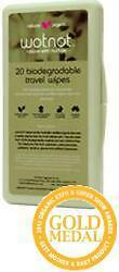 WOTNOT Organic Travel Baby Wipes (Hard Pack of 20) 100% Biodegradable and Com...