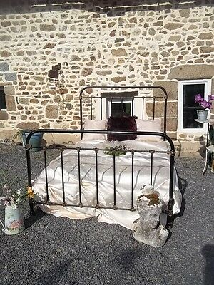 French Antique Iron Provincial Double Bedstead