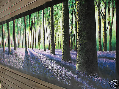 2400mm Large  forest Trees Landscape Australia painting canvas  By Jane Crawford
