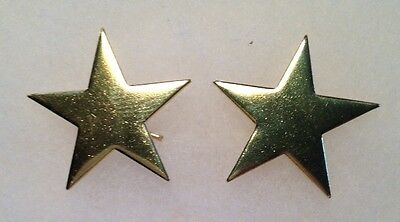Civil War-Indian Wars, Pair of Texas Brass Stars, W/Wires, New Unused Repros