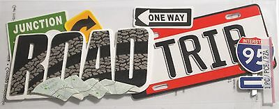 JOLEE'S BOUTIQUE TITLE ROAD TRIP Travel Scrapbook Craft Sticker Embellishment