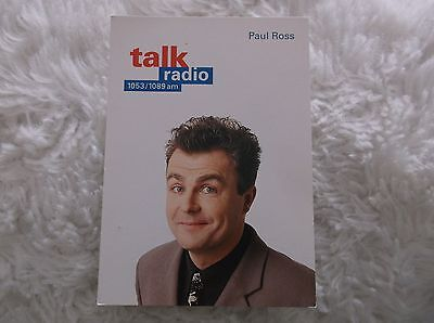 Paul Ross Talk Radio Unsigned  Vintage Cast Card