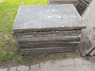 Reclaimed concrete paving shed base allotment patio garden path driveway Flags