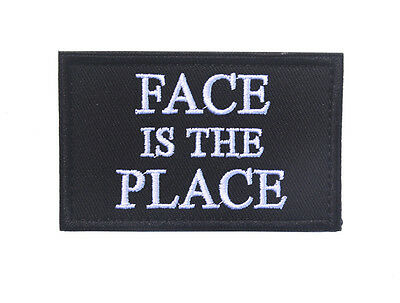 FACE IS THE PLACE ARMY LOGO Tactical MORALE BADGE HOOK PATCH  sh+ 857