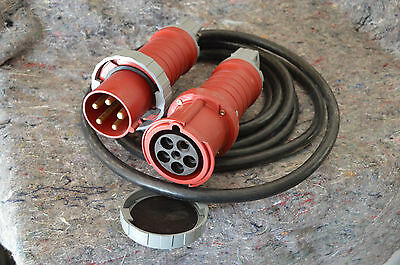 Power Extension Cable: 5 wire 3 phase 60A