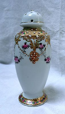 LATE 1910S NORITAKE NIPPON  Moriage and Gold PORCELAIN HATPIN HOLDER