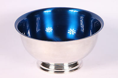Wallace Silver Plate Paul Revere Bowl With Solid Blue Interior 9108