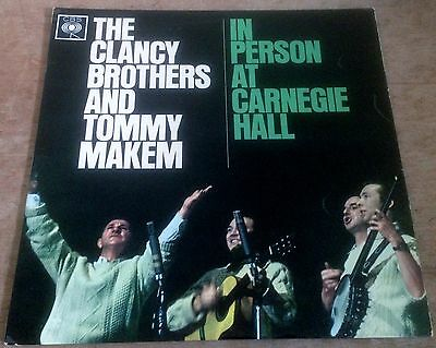 THE CLANCY BROTHERS*TOMMY MAKEM in person at carnegie hall 1960s UK CBS STEREO
