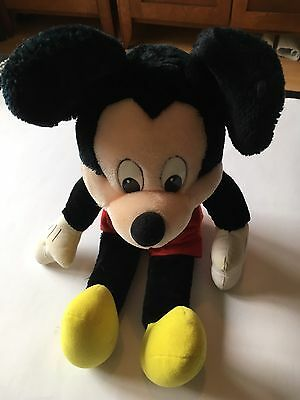 Rare mickey mouse plush toy blue bow tie