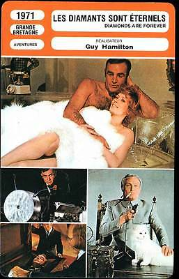 CARTE FICHE CINEMA 1971 LES DIAMANTS SONT ETERNELS JAMES BOND Sean Connery