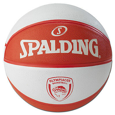 Olympiacos Piraeus B.C. - Euroleague Spalding Ball - Signed by the entire team