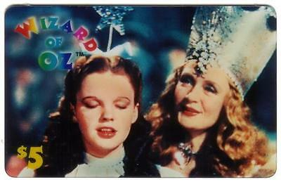 $5. Wizard of Oz Movie: Dorothy & Good Witch of The North Glinda Phone Card