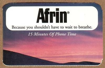 15m Schering-Plough Healthcare Products (Afrin, etc) (Set of 5) Paper Phone Card