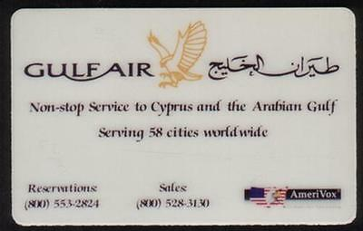 Gulf Air: 'Non-stop Service to Cyprus & The Arabian Gulf' PROOF Phone Card