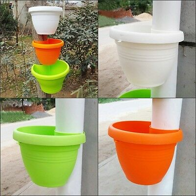 Large Plastic Pipe Wall Hanging Pots Bundled Pipes Hanging Basket Bed & Bath