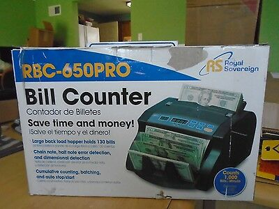 Royal Sovereign Bill Money Currency Cash Counter Sorting Machine RBC-650PRO