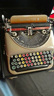 1930 remington5 training typewritter with colored keys antique and rare