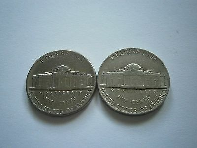 2x 1974 USA NICKEL FIVE CENT COINS US UNITED STATES LOT 5c - FREE POSTAGE