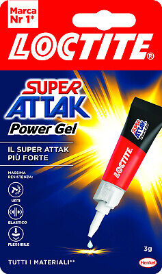 Adesivo universale LOCTITE 'SUPER ATTAK - POWER FLEX GEL' 3gr.
