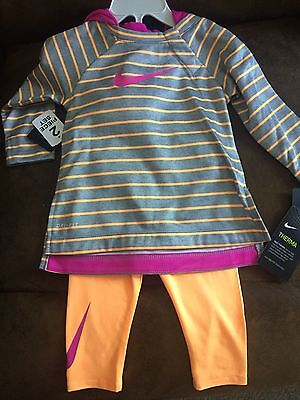 Nike Therma Dri-Fit 2 piece baby girls size 18 months New with Tags