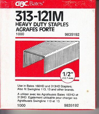 2000 Heavy Duty 1/2 in. Staples for Swingline 13, 113, Bates 160HD and others