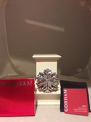 Gorham, 2017 Annual Snowflake Ornament, Sterling Silver, Brand New Mib Free Usps