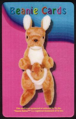 5m Beanie Card: Pouch The Kangaroo (With Baby In Pouch) Phone Card